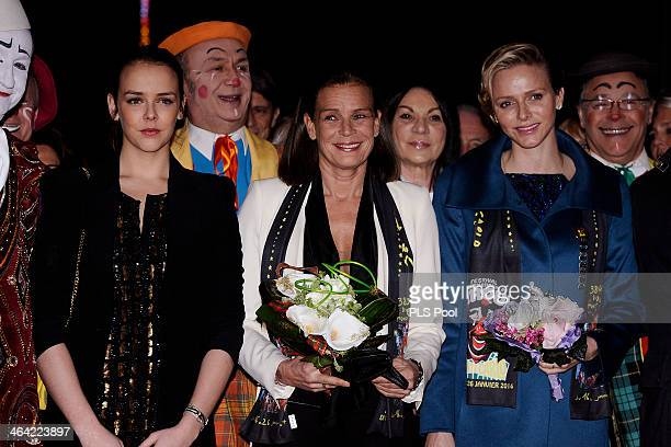 Pauline Ducruet Princess Stephanie of Monaco and Princess Charlene of Monaco attend the 38th International Circus Festival on January 21 2014 in...