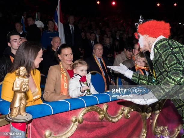 Pauline Ducruet Princess Stephanie of Monaco and Princess Gabriella attend the 43rd International Circus Festival of MonteCarlo on January 20 2019 in...