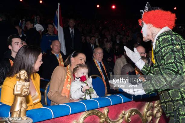 Pauline Ducruet Princess Stephanie of Monaco and Princess Gabriella of Monaco attend the 43rd International Circus Festival of MonteCarlo on January...