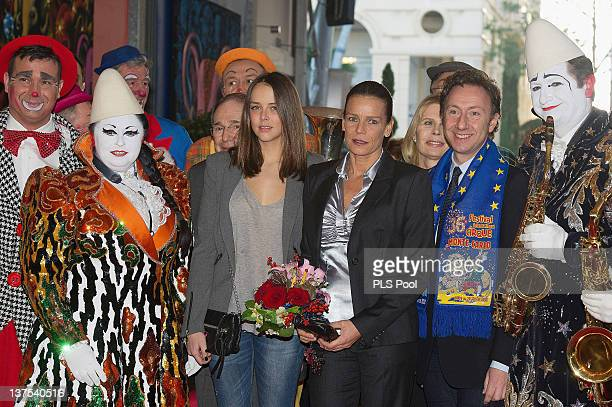 Pauline Ducruet Princess Stephanie of Monaco and Stephane Bern attend the MonteCarlo 36th International Circus Festival on January 21 2012 in...