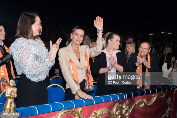 Pauline Ducruet Princess Stephanie of Monaco Camille Gottlieb Candice Patou and Robert Hossein attend the 43rd International Circus Festival In...