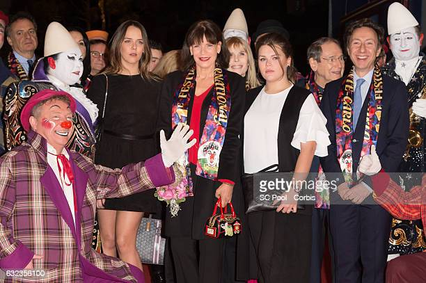 Pauline Ducruet Princess Stephanie of Monaco Camille Gottlieb Robert Hossein and Stephane Bern attend the 41th MonteCarlo International Circus...