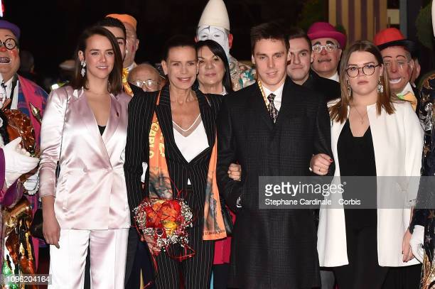 Pauline Ducruet Princess Stephanie of Monaco Louis Ducruet and Camille Gottlieb attend the 43rd International Circus Festival of MonteCarlo on...