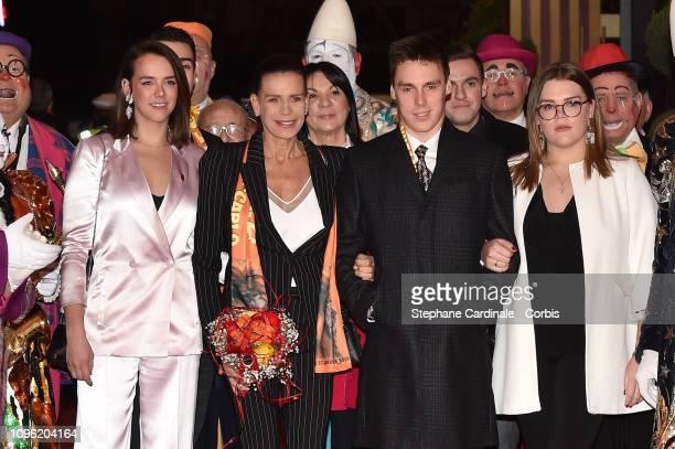 Pauline Ducruet, Princess Stephanie of Monaco, Louis Ducruet and Camille Gottlieb attend the 43rd International Circus Festival of Monte-Carlo on...