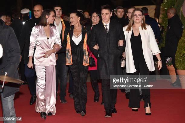 Pauline Ducruet Princess Stephanie of Monaco Louis Ducruet and Camille Gottlieb attend the 43rd International Circus Festival of MonteCarlo on...