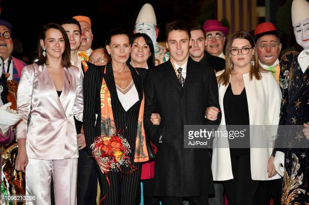 Pauline Ducruet, Princess Stephanie of Monaco, Louis Ducruet and Camille Gottlieb attend the 43rd International Circus Festival of Monte-Carlo on...