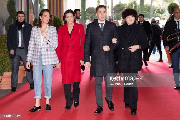 Pauline Ducruet, Princess Stephanie of Monaco, Louis Ducruet and Camille Gottlieb attend the 44th International Circus Festival on January 19, 2020...