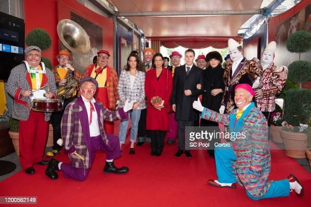 Pauline Ducruet Princess Stephanie of Monaco Louis Ducruet and Camille Gottlieb attend the 44th International Circus Festival on January 19 2020 in...