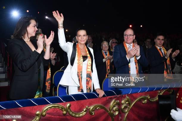 Pauline Ducruet Princess Stephanie of Monaco Prince Albert II of Monaco and Louis Ducruet attend the Gala Ceremony of the 43rd International Circus...