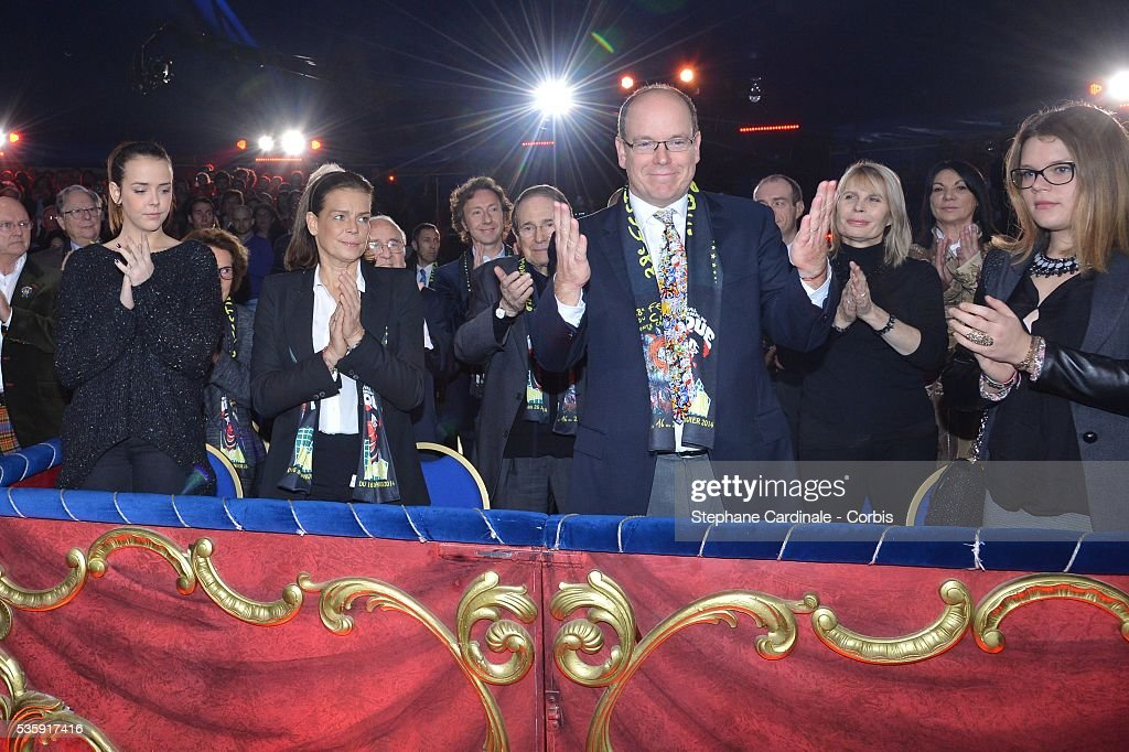 Pauline Ducruet, Princess Stephanie of Monaco, Prince Albert II of Monaco and Camille Gottlieb attend the 38th International Circus Festival, in Monaco.