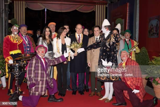 Pauline Ducruet Princess Stephanie of Monaco Prince Albert II of Monaco and Louis Ducruet attend the 42nd International Circus Festival In MonteCarlo...