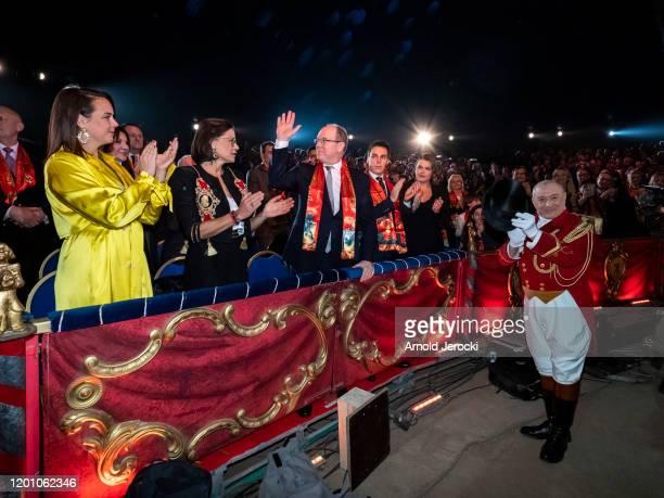 Pauline Ducruet Princess Stephanie of Monaco Prince Albert II of Monaco LOuis Ducruet and Camille Gottlieb attend the 44th International Circus...