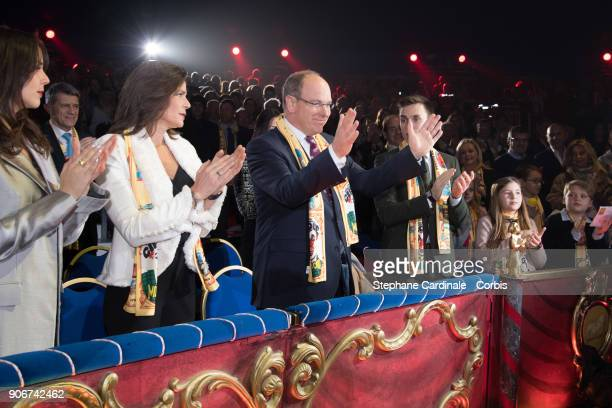 Pauline Ducruet Princess Stephanie of Monaco Prince Albert II of Monaco Louis Ducruet attend the 42nd International Circus Festival In MonteCarlo on...
