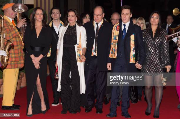 Pauline Ducruet Princess Stephanie of Monaco Prince Albert II of Monaco Louis Ducruet Attend the Gala of the 42nd Monte Carlo International Circus...