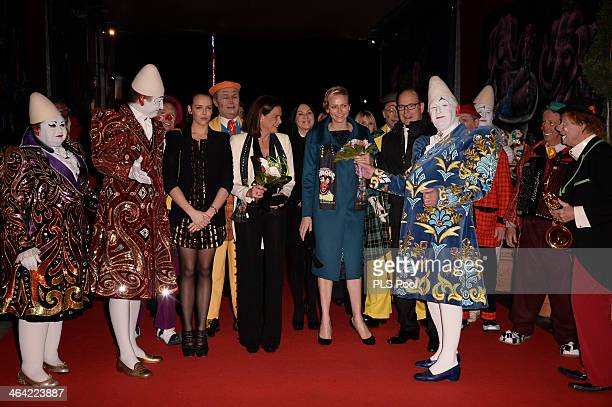Pauline Ducruet Princess Stephanie of Monaco Princess Charlene of Monaco and Prince Albert II of Monaco attend the 38th International Circus Festival...
