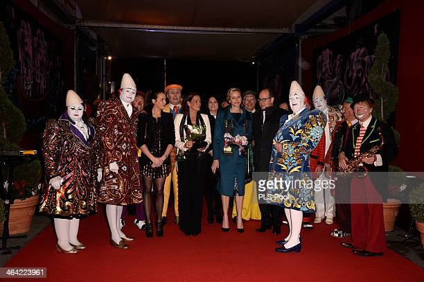 Pauline Ducruet Princess Stephanie of Monaco Princess Charlene of Monaco and Prince Albert II of Monaco attend the 38th International Circus Festival...