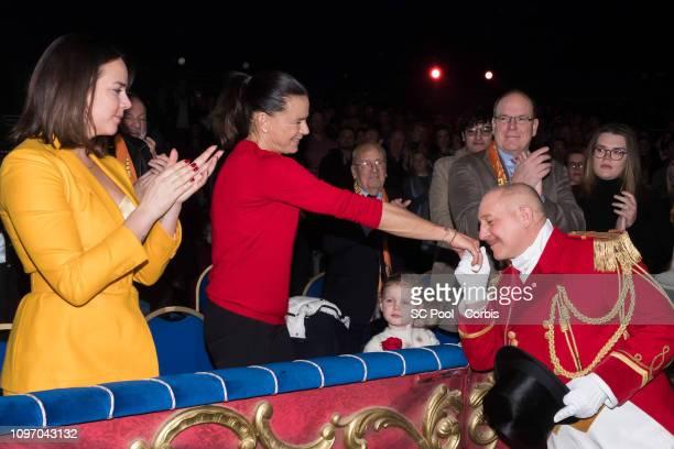 Pauline Ducruet Princess Stephanie of Monaco Princess Gabriella of Monaco Prince Albert II of Monaco and Camille Gottlieb attend the 43rd...