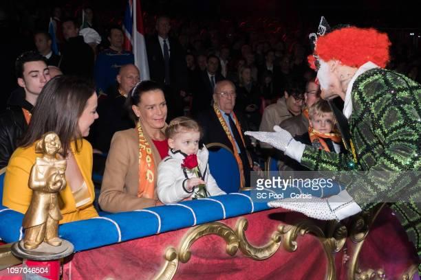 Pauline Ducruet Princess Stephanie of Monaco Princess Gabriella of Monaco andPrince Jacques of Monaco Prince Albert II of Monaco attend the 43rd...
