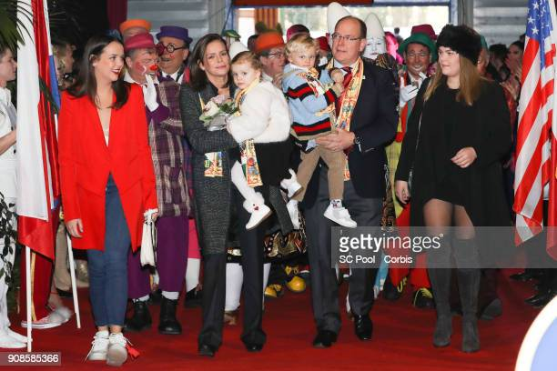 Pauline Ducruet Princess Stephanie of Monaco Princess Gabriella of Monaco Prince Jacques of Monaco Prince Albert II of Monaco and Camille Gottlieb...