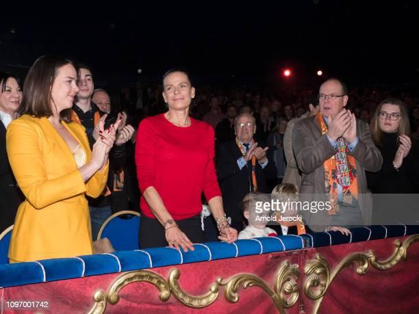 Pauline Ducruet Princess Stephanie of Monaco Princess Gabriella Prince Jacques Prince Albert II of Monaco and Camille Gottlieb attend the 43rd...