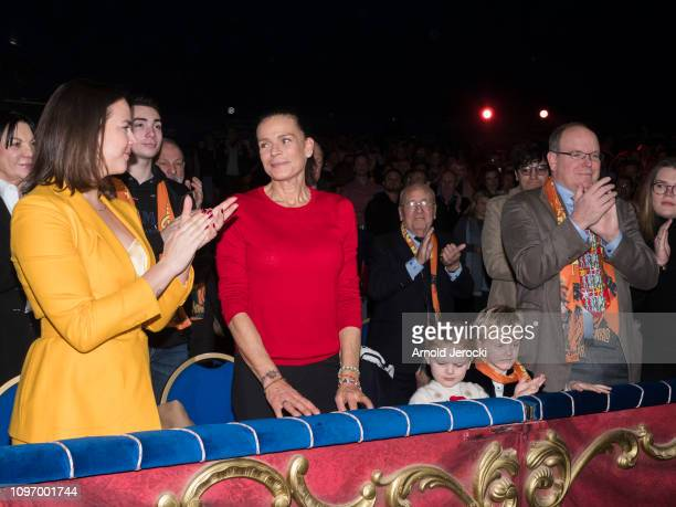 Pauline Ducruet Princess Stephanie of Monaco Princess Gabriella Prince Jacques Prince Albert II of Monaco and Camille Gottlieb attend the 43rd...