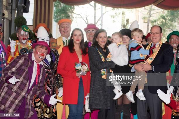 Pauline Ducruet Princess Stephanie of Monaco Princess Gabrielle of Monaco Prince Jacques of Monaco and Prince Albert II of Monaco attend the 42nd...
