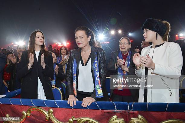 Pauline Ducruet Princess Stephanie of Monaco Robert Hossein and Camille Gottlieb attend the 39th International Circus Festival of MonteCarlo on...