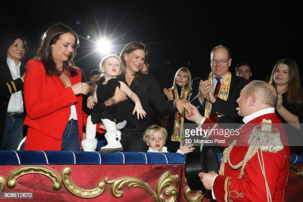 Pauline Ducruet Princess StŽphanie of Monaco Princess Gabrielle of Monaco Prince Jacques of Monaco and Prince Albert II of Monaco attend the 42nd...
