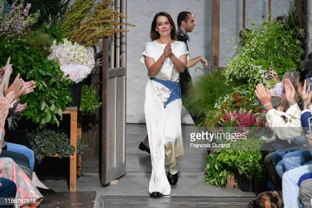 Pauline Ducruet walks the runway during the Alter Design Menswear Spring Summer 2020 show as part of Paris Fashion Week on June 18, 2019 in Paris,...