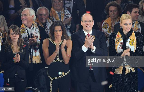 Pauline Ducuret Princess Stephanie of Monaco Prince Albert II of Monaco and Charlene Wittstock attend the closing ceremony of the 32nd International...