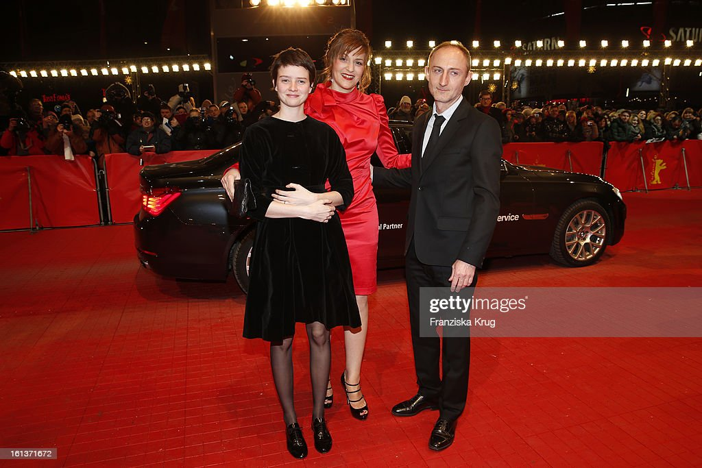 Pauline Etienne, Martina Gedeck and Guillaume Nicloux attend 'The Nun' Premiere - BMW at the 63rd Berlinale International Film Festival at the Berlinale-Palast on February 10, 2013 in Berlin, Germany.