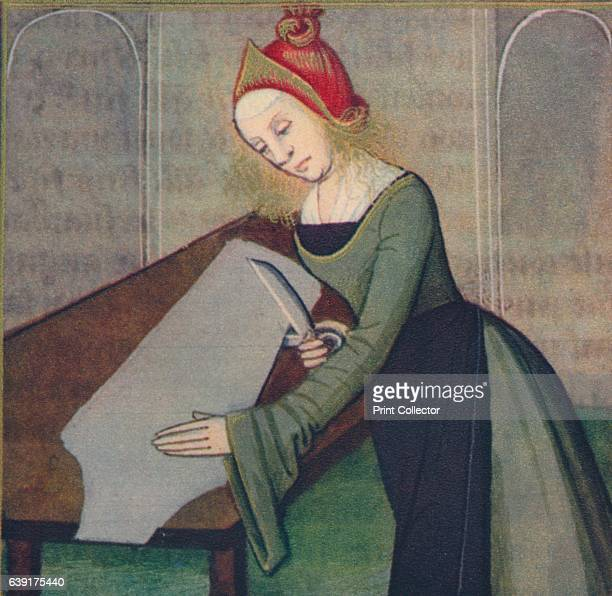 Pauline Femme Romaine' The illustration is part of the manuscript De Claris mulieribus traduction anonyme en francais by Giovanni Boccaccio housed in...