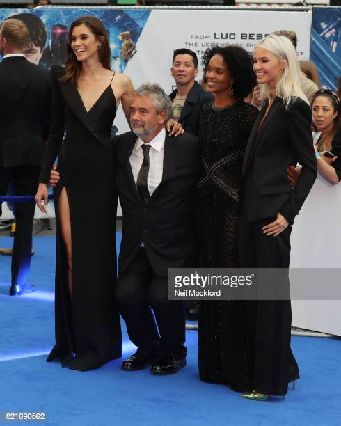 Pauline Hoarau Luc Besson Virginie Besson and Sasha Luss attend the 'Valerian And The City Of A Thousand Planets' European Premiere at Cineworld...