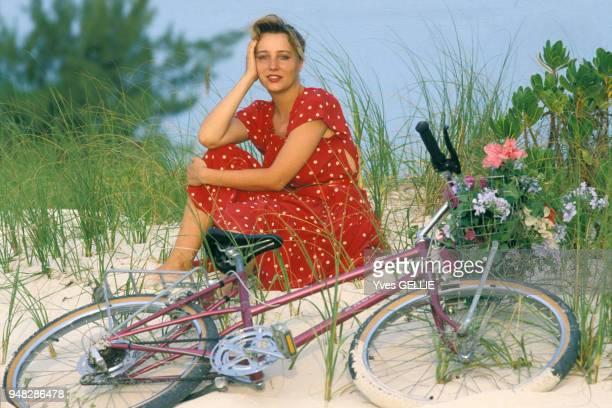 Pauline Lafont en avril 1988 Bahamas