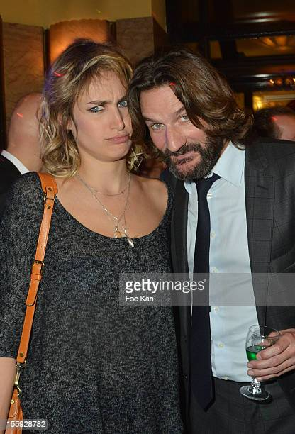Pauline Lefevre and Frederic Beigbeder attend the 'Prix De Flore 2012' Literary Award Ceremony Party at the Cafe de Flore on November 8 2012 in Paris...
