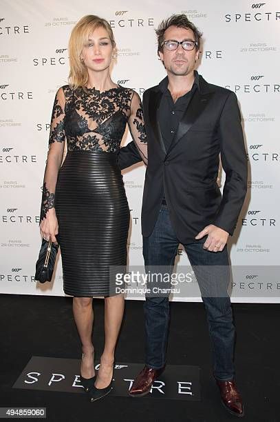 Pauline Lefevre and Julien Ansault attend the Spectre Paris Premiere at Le Grand Rex on October 29 2015 in Paris France
