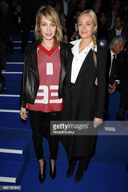 Pauline Lefevre and Virginie Courtin Clarins attend The ETAM show as part of the Paris Fashion Week Womenswear Fall/Winter 2015/2016 at Piscine...