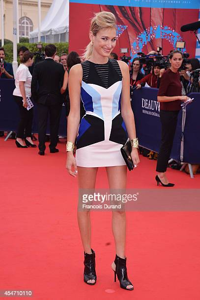 Pauline Lefevre arrives at the opening ceremony of 40th Deauville American Film Festival on September 5 2014 in Deauville France