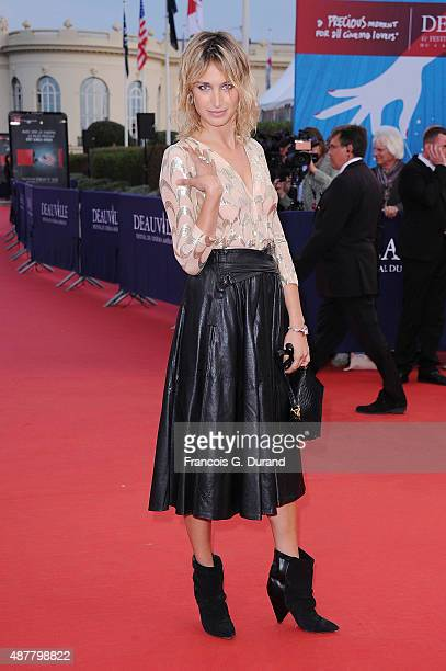 Pauline Lefevre arrives at the 'The Man From UNCLE' Premiere during the 41st Deauville American Film Festival on September 11 2015 in Deauville France