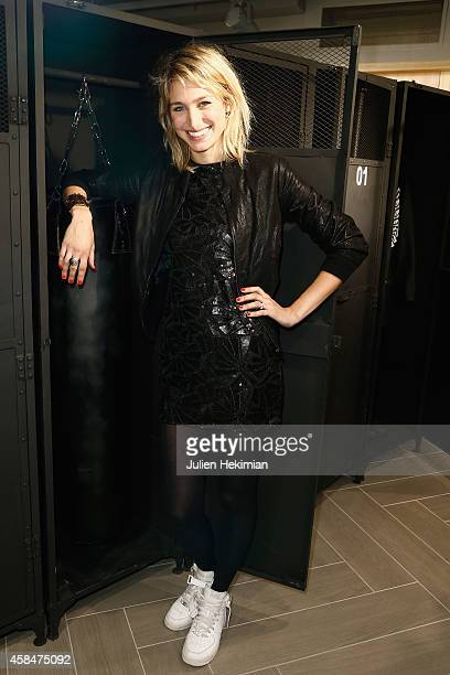 Pauline Lefevre attends the Alexander Wang x HM Collection Launch at the HM Boulevard SaintGermain store on November 5 2014 in Paris France