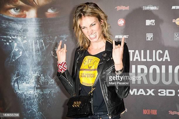 Pauline Lefevre attends the 'Metallica Through The Never' Paris Premiere at Le Grand Rex on October 8 2013 in Paris France