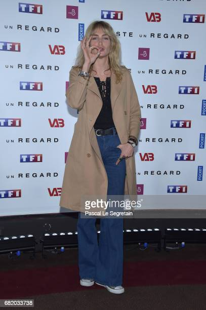 Pauline Lefevre attends the photocall for 'Juste un regard' TV show at Cinema Gaumont Marignan on May 11 2017 in Paris France