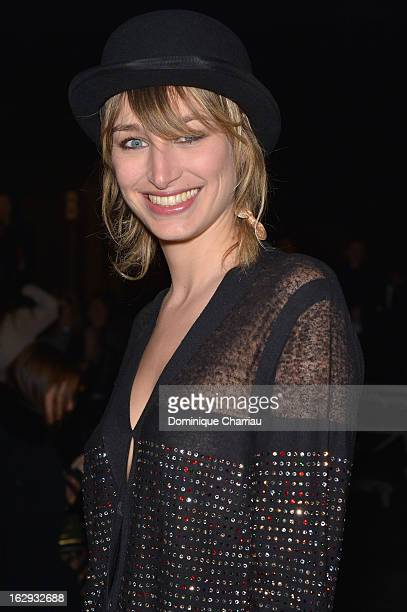 Pauline Lefevre attends the Sonia Rykiel Fall/Winter 2013 ReadytoWear show as part of Paris Fashion Week at Halle Freyssinet on March 1 2013 in Paris...