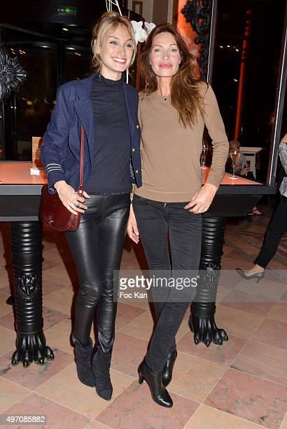 Pauline Lefevre former top model Laurence Treil attend day 3 of the 'Festival du Cinema Musique De Film de La Baule' at Hotel Hermitage Barriere on...
