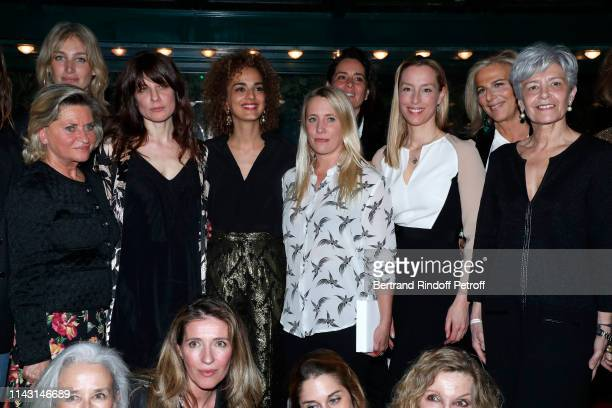 """Pauline Lefevre, Price of the """"Closerie des Lilas 2019"""" for """"Les entenebres"""", writer Sarah Chiche, President of the Jury, writer Leila Slimani,..."""