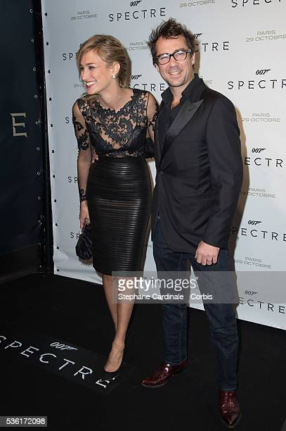 Pauline Lefevre with her husband Julien Ansault attend the 'Spectre' Paris Premiere at Le Grand Rex on October 29 2015 in Paris France
