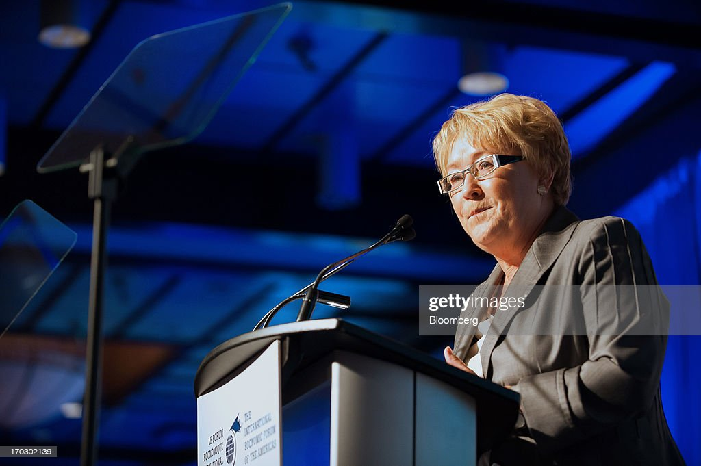 Pauline Marois, premier of Quebec, speaks during the International Economic Forum Of The Americas' Conference Of Montreal in Montreal, Quebec, Canada, on Monday, June 10, 2013. The Conference of Montreal brings togetherHeads of State,the private sector, international organizations and civil society to discuss major issuesconcerning economic globalization, focusing on the relations between the Americas and other continents. Photographer: David Vilder/Bloomberg via Getty Images
