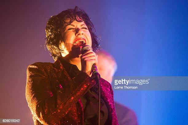 Pauline Murray of Penetration performs at O2 Academy Brixton on November 26 2016 in London England