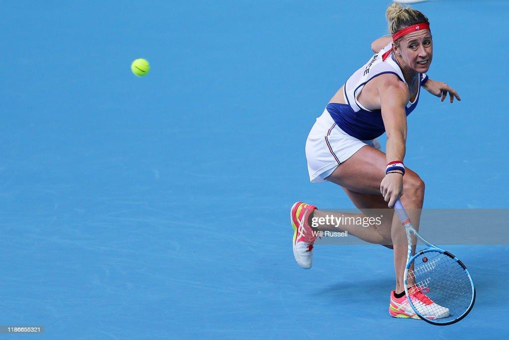 2019 Fed Cup Final - Australia v France : Photo d'actualité