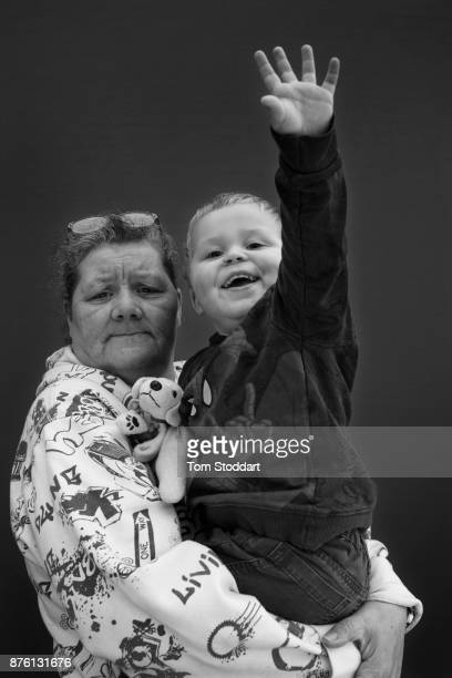 Pauline poses for a picture with her grandson Harvey on November 1 2017 in Newcastle upon Tyne England Pauline says 'Universal Credit should be...